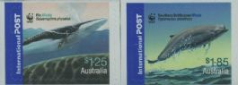 Aus SG2666-7 Endangered Species: Whales self-adhesives from booklets (exSB205-6) set of 2